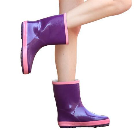 bottom boots for toe non slip bottom purple boots shoes mid calf