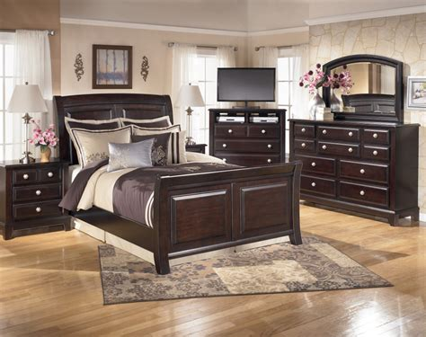 bedroom sets ashley ridgley sleigh bedroom set ogle furniture