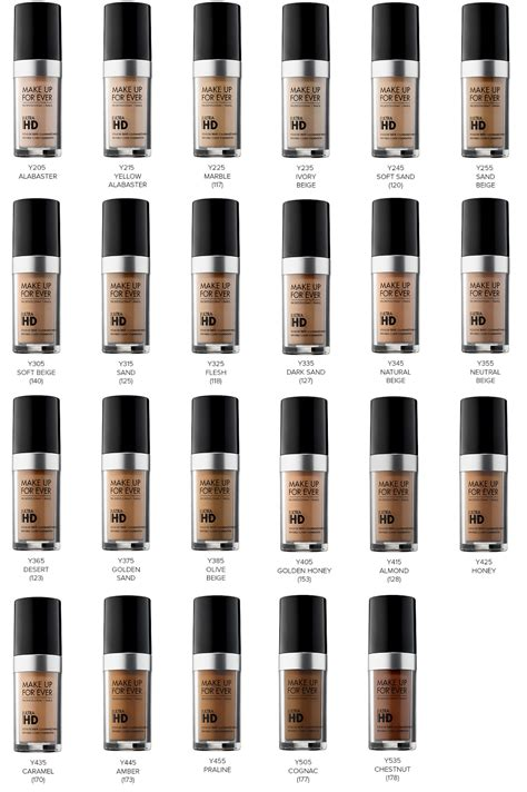Make Up For Hd Foundation makeup forever hd foundation color chart saubhaya makeup