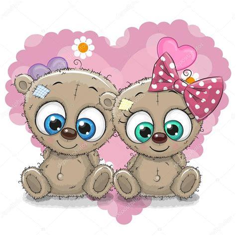 imagenes animados de ositos dos osos de dibujos animados vector de stock