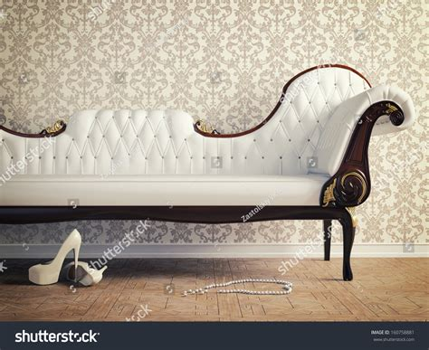 couch photography vintage sofa and wallpaper wall retro style illustration
