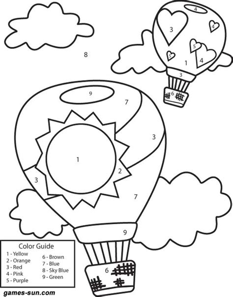 balloons coloring pages preschool hot air balloons coloring pages google search coloring