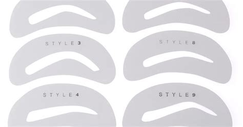 printable eyebrow stencil template top 5 brow shapes not to do elke freudenberg salon