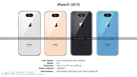 apple iphone xi 2019 renders specs leak hinting at a 4000mah battery gizmochina