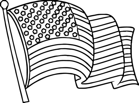 A Coloring Page Of The American Flag american flag coloring pages best coloring pages for