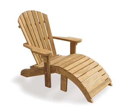 Teak Adirondack Chairs by Teak Adirondack Chair With Free Leg Rest