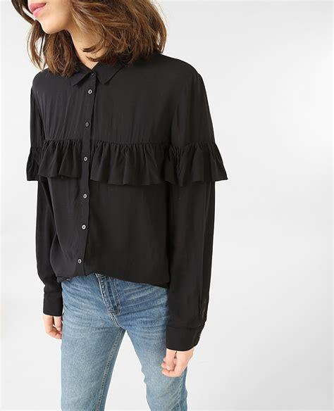 camicia volant camicia a volant nero 561369899a08 pimkie