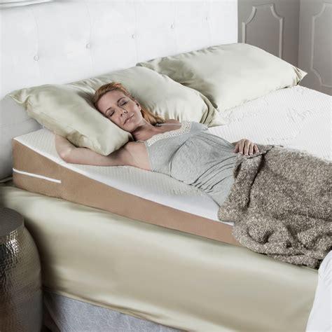 acid reflux full length half bed wedge pillow topper w memory foam mattress topper wedge full length width queen