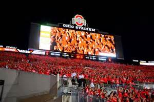 Ohio Stadium Student Section by Ohio State Football Student Appreciation Day Practice 2015