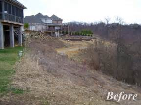 what to do with a sloped backyard april 2015 home landscaping