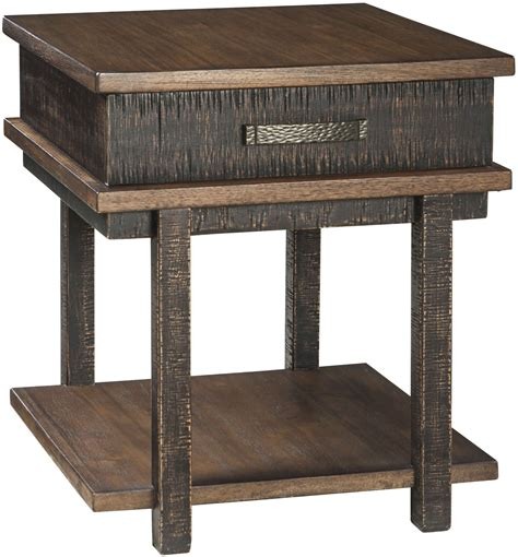 two tone end tables stanah two tone rectangular end table from