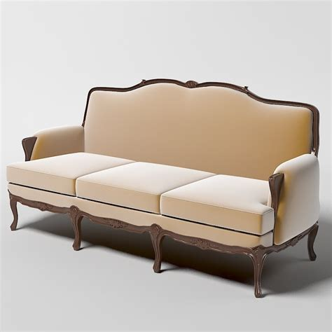 classical sofa curved 3ds