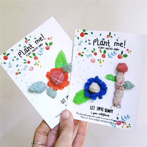 how to make seed cards diy plantable seed paper cards handmade