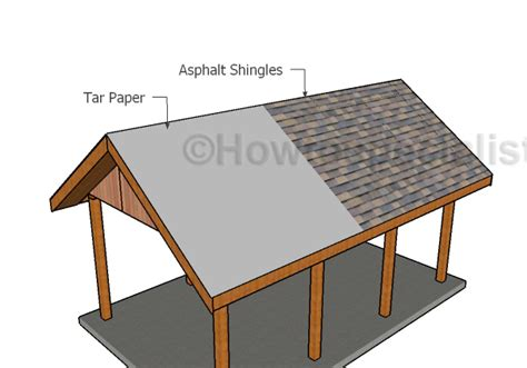 how to build a gable roof building a gable carport roof plans howtospecialist