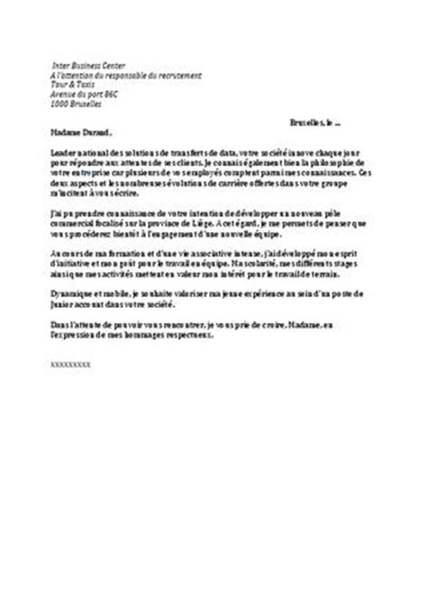 Modèles De Lettre Candidature Spontanée Cover Letter Exle Exemple Lettre De Motivation Candidature Spontan 233 E Marketing