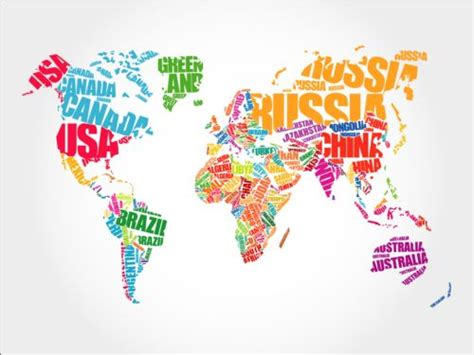 svg world map with country names country text with world map vector vector maps free