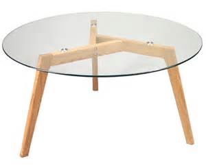 table basse scandi en ch 232 ne plateau verre