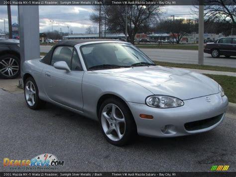 Silver And Black Ls by 2001 Mazda Mx 5 Miata Ls Roadster Sunlight Silver Metallic