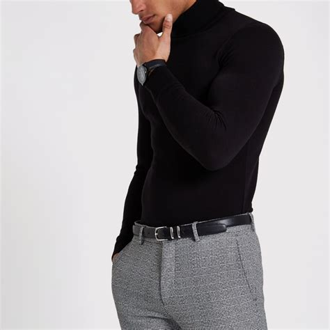 Fit Neck Sweater black slim fit roll neck sweater sweaters sweaters