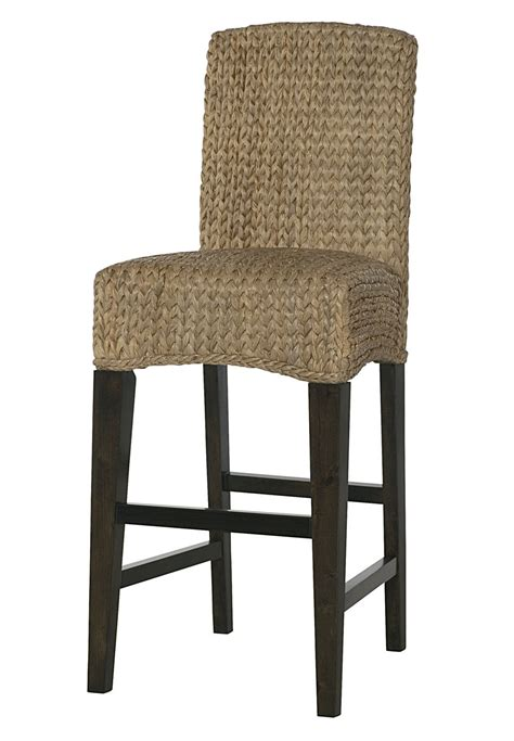 Woven Stools by Hammary Treasures Woven Bar Stool W Back Beyond