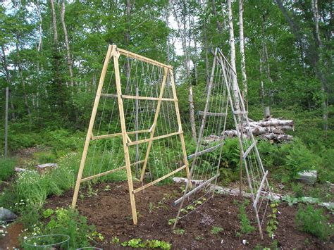 Vegetable Garden Trellis Designs A Frame Garden Trellis