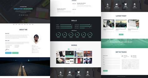 html template free 20 best free html resume templates by trendy theme