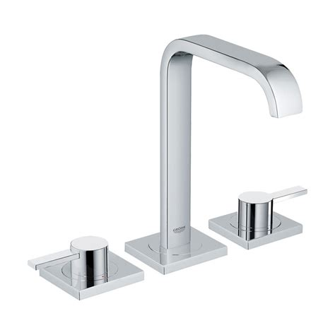 grohe kitchen sink faucets shop grohe allure chrome 2 handle widespread bathroom