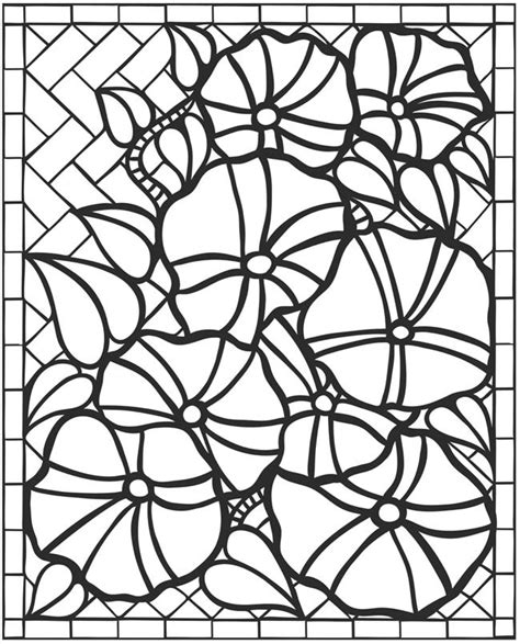 flower mosaic coloring page 469 best flowers to color images on pinterest