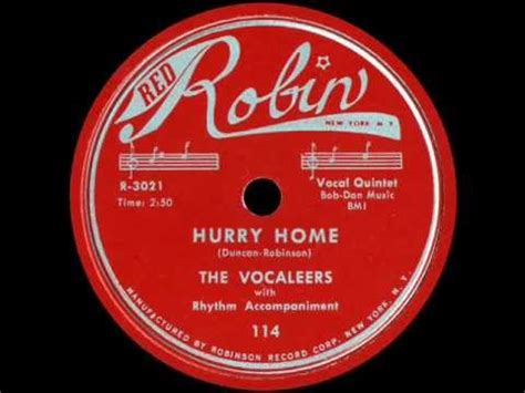 78 rpm the vocaleers hurry home