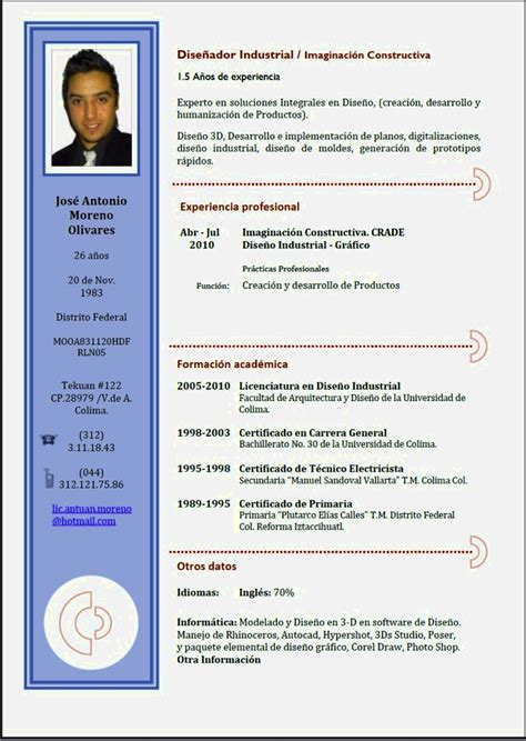 Example Resume Profile Statement by Ejemplos De Cv Exitosos Resume Template Cover Letter