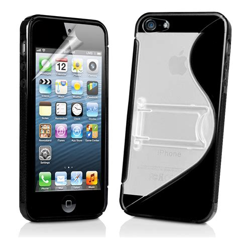 iphone 5g black s line wave gel cover stand for apple iphone5 iphone 5 5g screen pr ebay