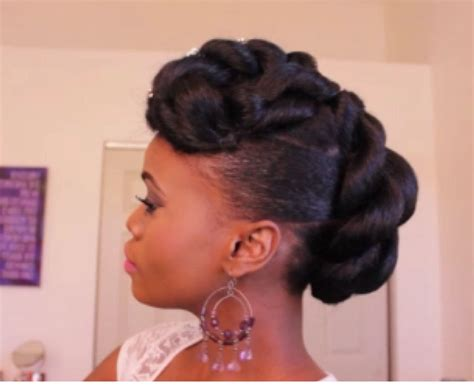Black Wedding Hairstyles Updo by Updo Hairstyles For Black Hair Bridal Updo On