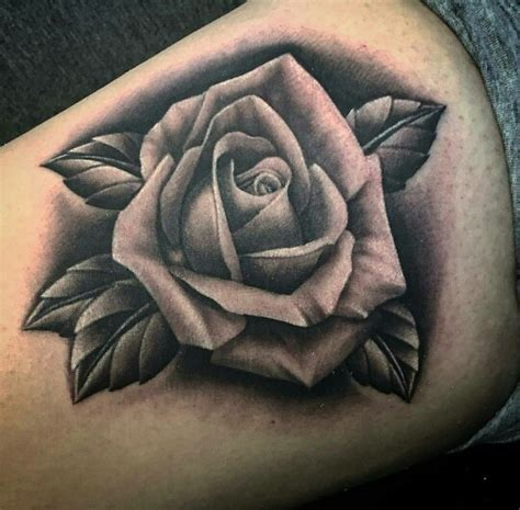 black n gray rose tattoo black and grey s
