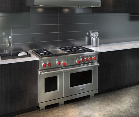 wolf 48 gas range wolf df486g 48 inch pro style dual fuel range with 4 5 cu ft dual convection oven 6 dual
