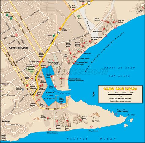 printable map with pins cabo san lucas map click for printable version cabo