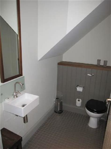 Guest Bathroom Design Ideas Toilet Room Under The Stairs To Mezzanine Level Picture