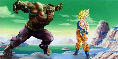 imagenes de goku vs hulk goku vs hulk ot taringa
