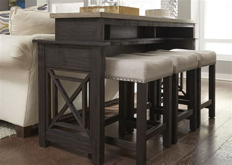 sofa table with bar stools sofa pub table cabinets matttroy