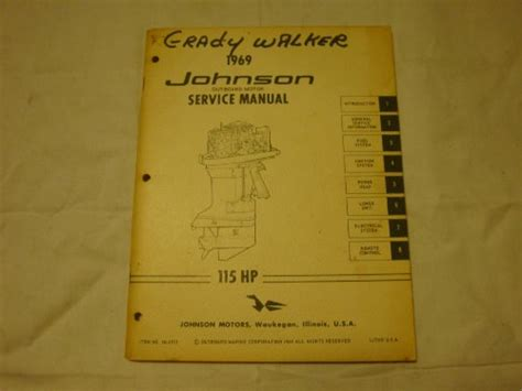 johnson 115 hp outboard motor manual 1969 johnson outboard motor service manual 115 hp