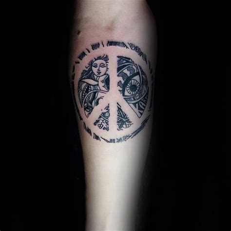 peace sign tattoos for men 70 peace sign tattoos for symbolic ink design ideas