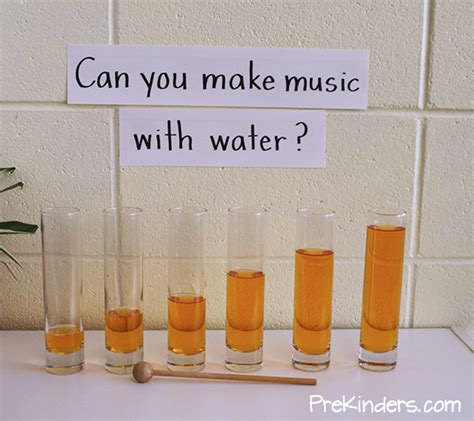 can you make music with water prekinders