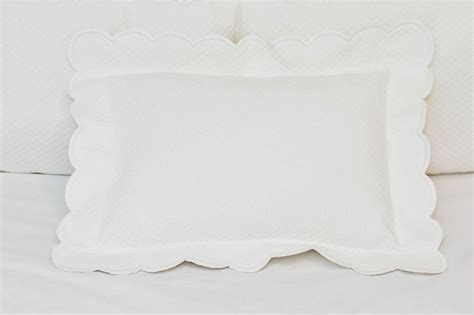 scalloped matelasse coverlet matelasse scalloped pillow