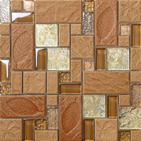 brown backsplash tile brown porcelain floor tiles yellow glass tile