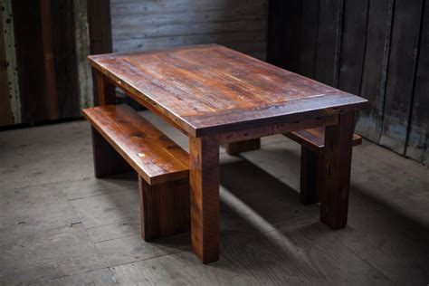 reclaimed wood farm table 1870 s depot reclaimed