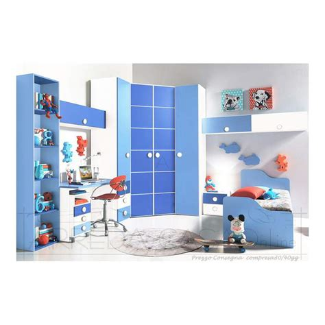 cameretta cabina armadio cameretta bambini cabina armadio azzurro leo gt0053