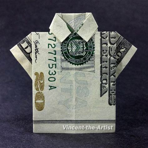 T Shirt Dollar Bill Origami - shirts clothes and money origami on