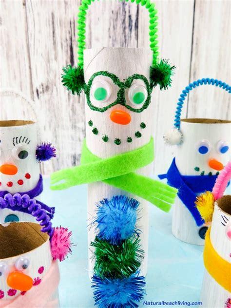 Snowman Toilet Paper Roll Craft - adorable diy toilet paper roll snowman crafts
