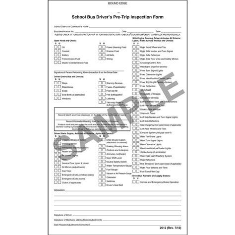 Cdl Pre Trip Checklist Cdl Vehicle Inspection Checklist Vehicle Ideas