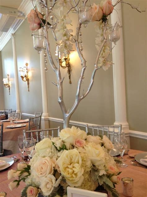 manzanita tree centerpiece wedding alter centerpiece