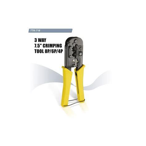 Original Tang Crimping Trendnet Rj45 Rj11 jual harga goldtool ttk 718 crimping tool rj45 rj11